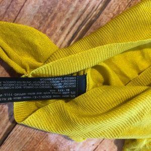 Zara Tops - NWOT Zara Mustard Yellow Ruffle Sweater Top